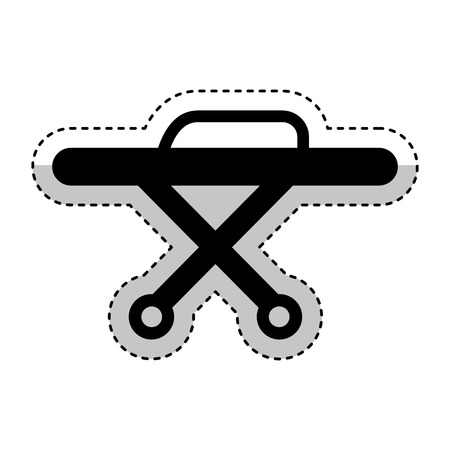 sick bed: stretcher medical isolated icon vector illustration design Illustration