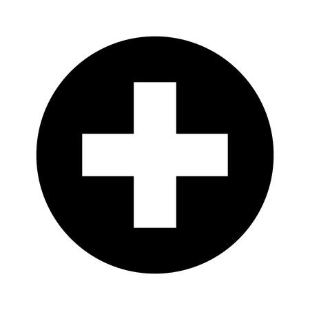 Medizinische Kreuz-Symbol-Symbol Vektor-Illustration, Design, Standard-Bild - 73293975