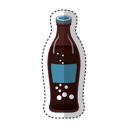 soda bottle isolated icon vector illustration design
