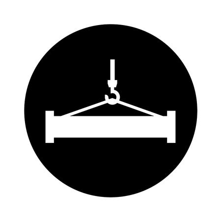 crane weight lifting service vector illustration design