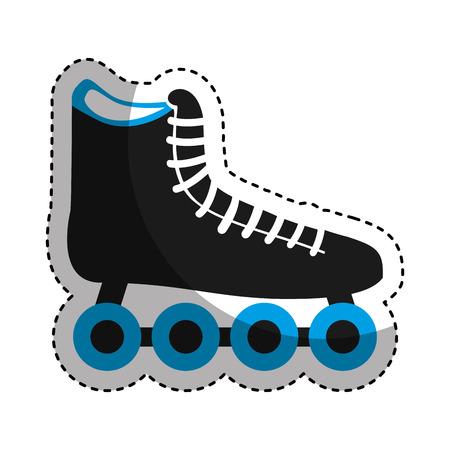 roller skating: skate roller isolated icon vector illustration design