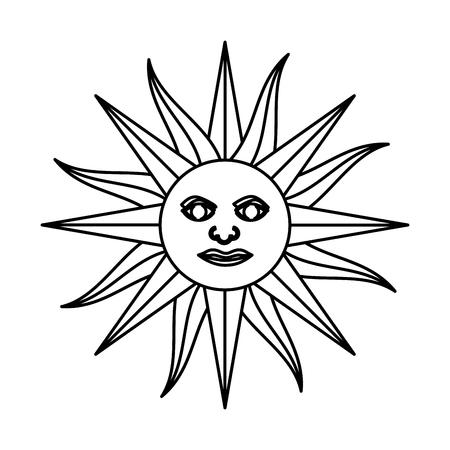 bandera de uruguay: sun uruguayan emblema bandera ilustración vectorial diseño Vectores