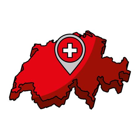 switzerland map isolated icon vector illustration design