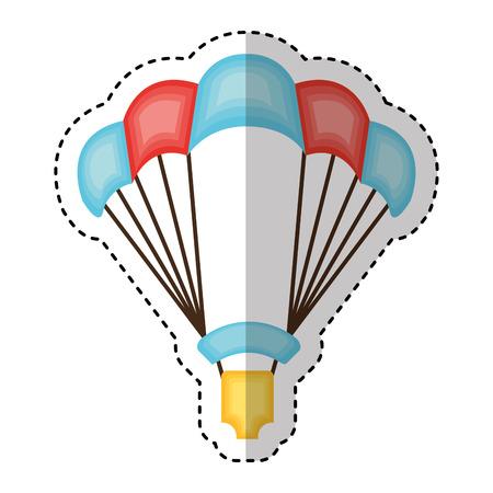 Parachutist silhouette flying icon vector illustration design