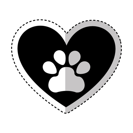 paw footprint isolated icon vector illustration design