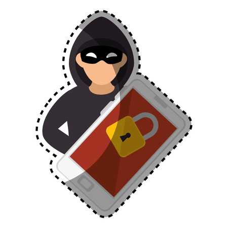 malware: computer with computing alert vector illustration design