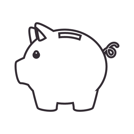 piggy savings money icon vector illustration design Ilustração