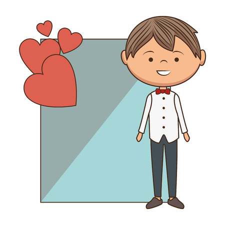 man character romantic card vector illustration design Illustration