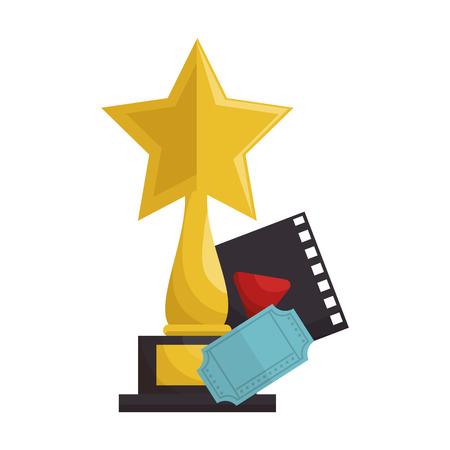 Movie entertainment set icons vector illustration design Illustration