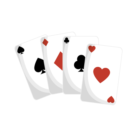 aces poker cards icon vector illustration design