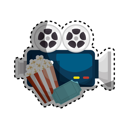 Movie entertainment set icons vector illustration design Illustration