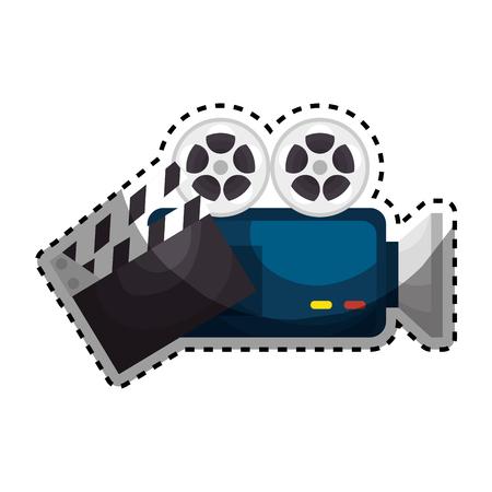 Película entretenimiento conjunto iconos ilustración vectorial diseño