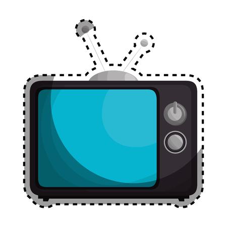 retro tv isolated icon vector illustration design