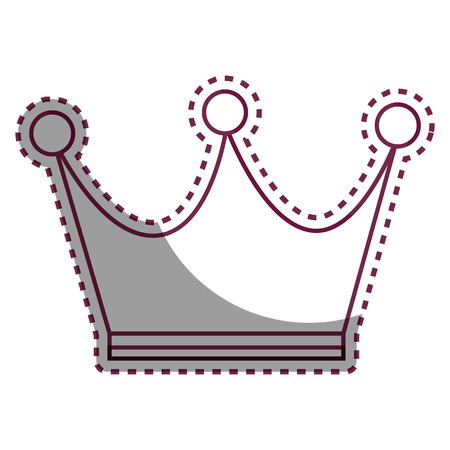 crown queen gold icon vector illustration design