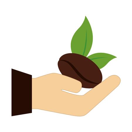 おいしいコーヒーの種子のアイコン ベクトル イラスト デザイン