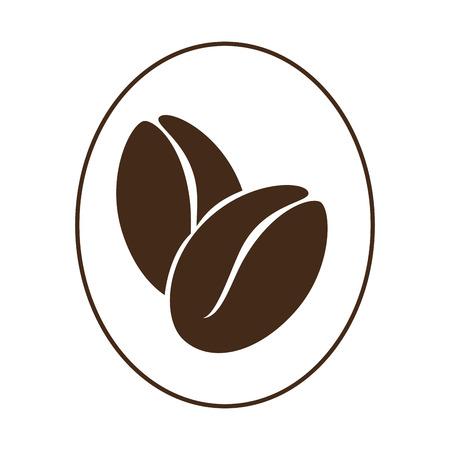 Une conception délicieuse de grain de café icône vector illustration