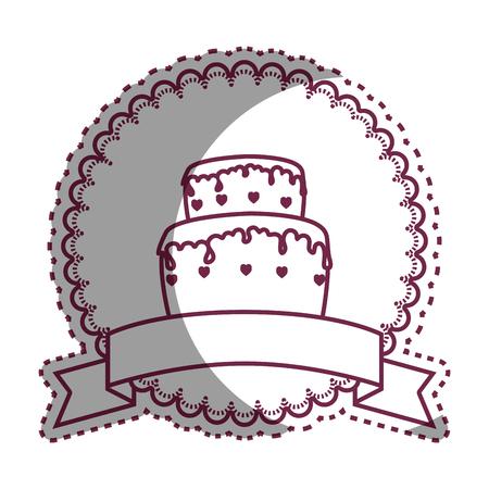 wedding cake: wedding delicious cake icon vector illustration design