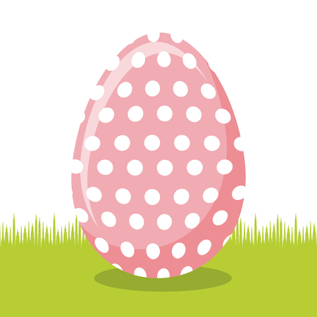 easter egg icon over white background. colorful design. vector illustration