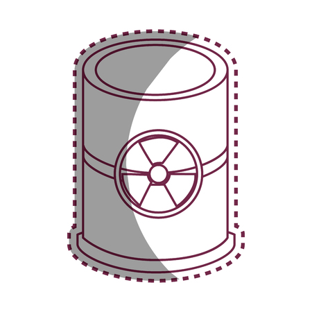 hazardous waste: nuclear barrel isolated icon vector illustration design