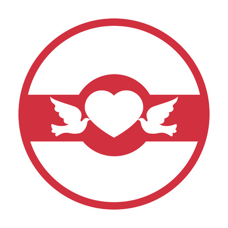 wedding birds romantic card vector illustration design