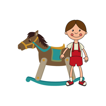 wooden horse: wooden horse toy icon vector illustration design