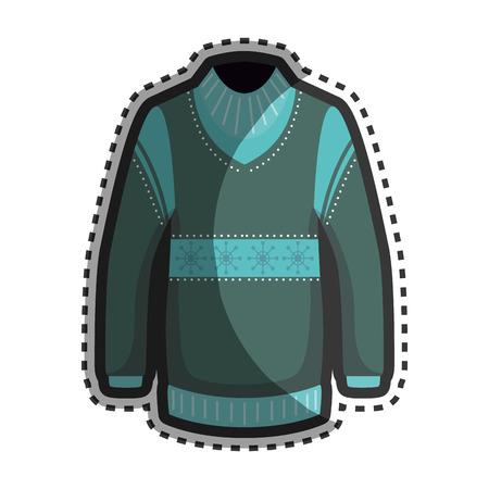 fashion design: Fashion winter jacket icon vector illustration design Illustration