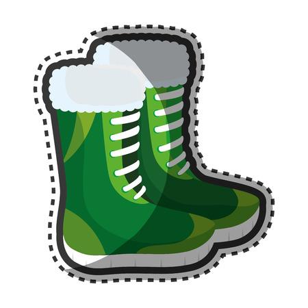 fashion design: Fashion winter boots icon vector illustration design Illustration