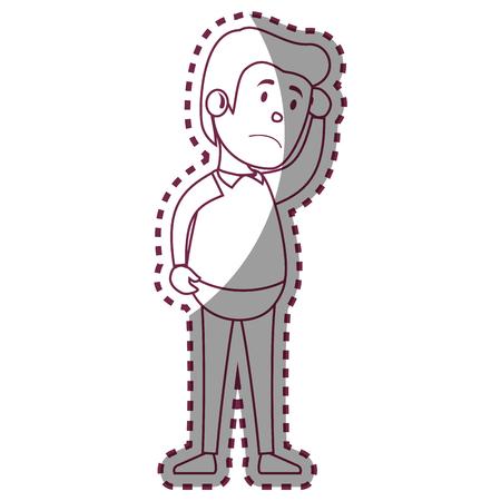 psychiatric: Psychiatric patient avatar character vector illustration design