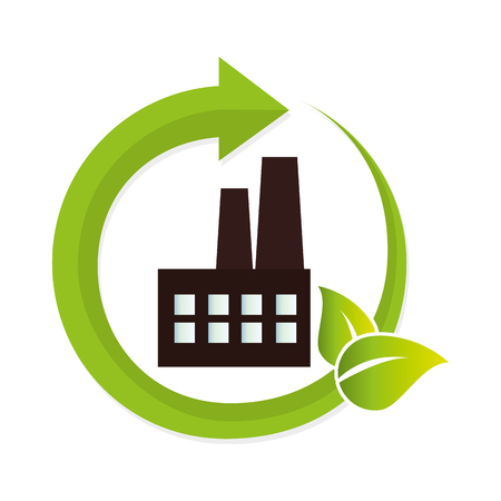 green factory building icon vector illustration design Illustration