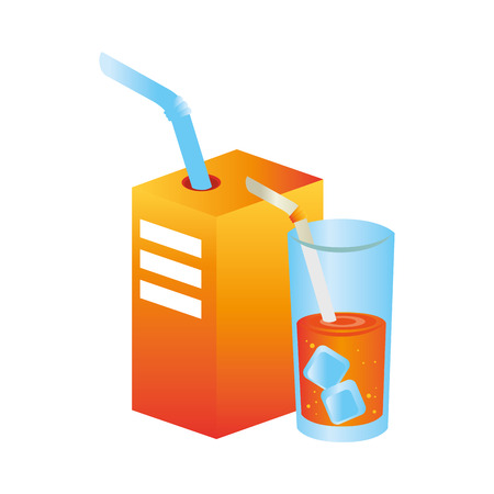 orange juice fruit icon vector illustration design Illustration