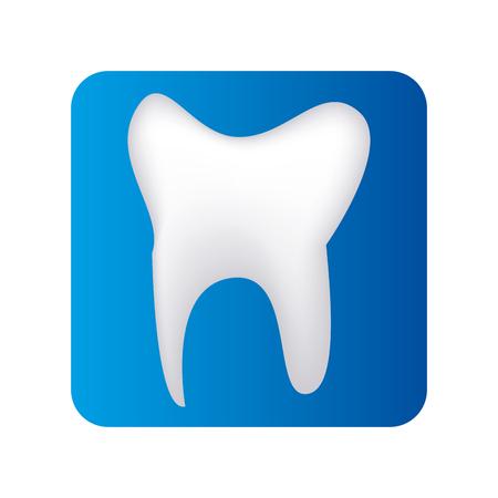 teeth dental care isolated icon vector illustration design Illustration