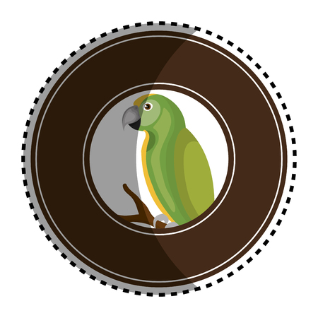 cute parrot mascot icon vector illustration design