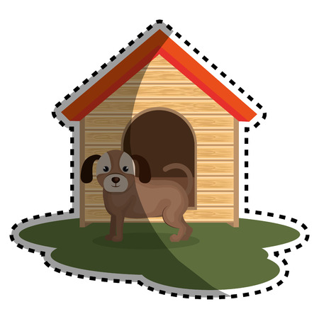 cute doggy pet icon vector illustration design