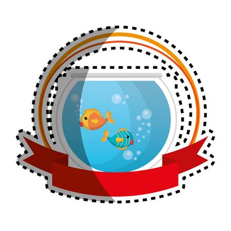 fish tank: fish in aquarium pet vector illustration design