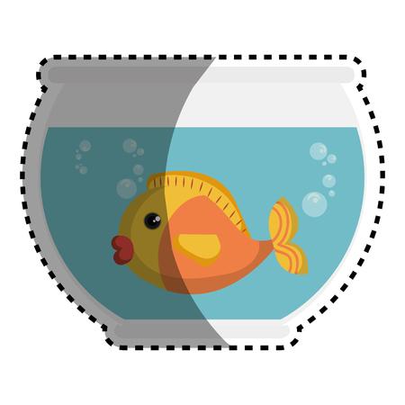 fish in aquarium pet vector illustration design