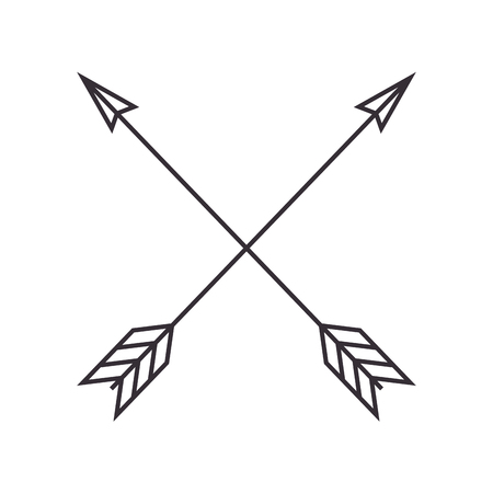 arrows crossed frame icon vector illustration design