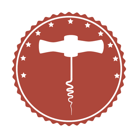 corkscrew tool isolated icon vector illustration design Illustration