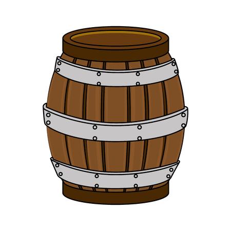 와인 배럴 병 격리 된 아이콘 벡터 일러스트 레이 션 디자인 일러스트