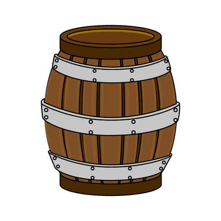 wine barrel bottle isolated icon vector illustration design