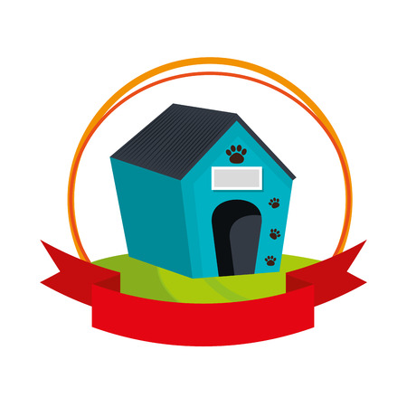 doghouse: pet wooden house icon vector illustration design