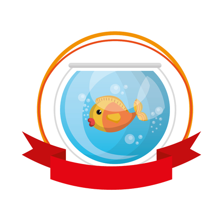 fish in aquarium pet vector illustration design