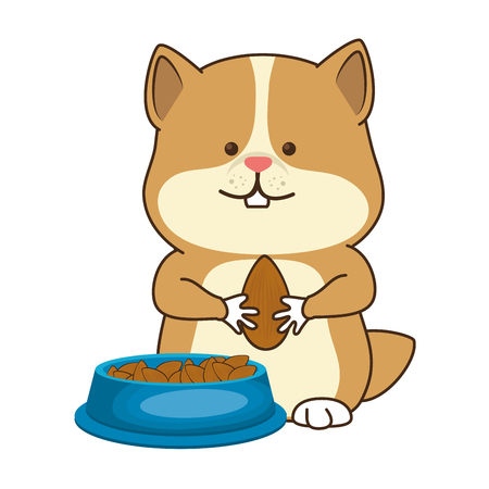 cute hamster mascot icon vector illustration design Illustration