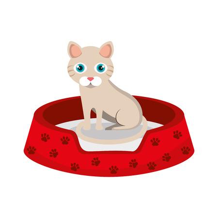 cute kitty mascot icon vector illustration design