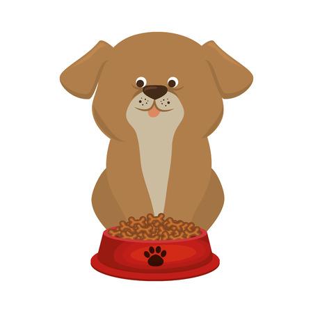 cute doggy pet icon vector illustration design