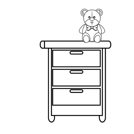 toy chest: Toy on chest of drawers vector illustration design Illustration