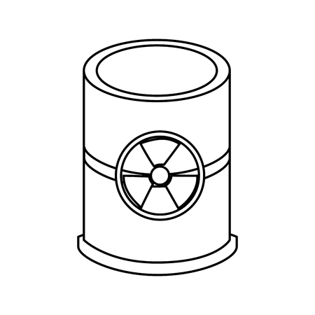 containment: nuclear barrel isolated icon vector illustration design