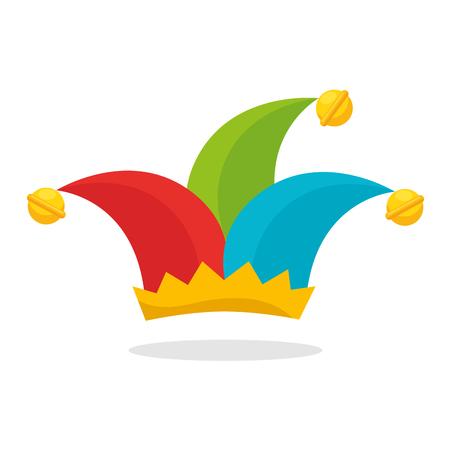 할리 퀸 모자 재미 아이콘 벡터 일러스트 레이 션 디자인 일러스트