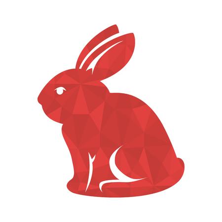 rabit: cute rabbit happy easter vector illustration design