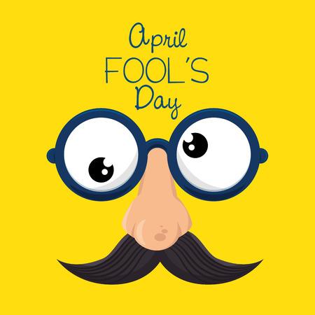 april fools day celebration card vector illustration design 向量圖像