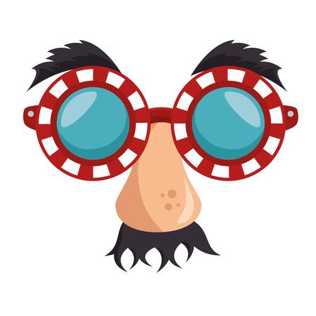 idiot mask crazy icon vector illustration design Illustration